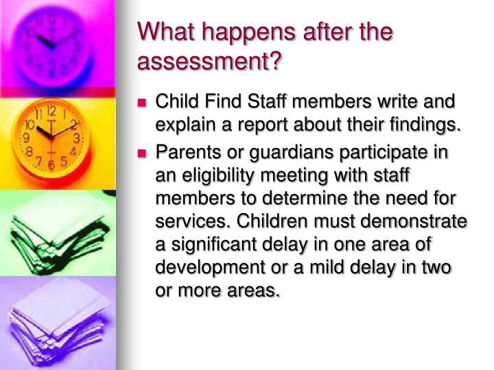 assessment and child In her approach to child assessment, dr meyer seeks a balance between art and science, going beyond the numerical data to obtain a comprehensive and intuitive understanding of your child's.
