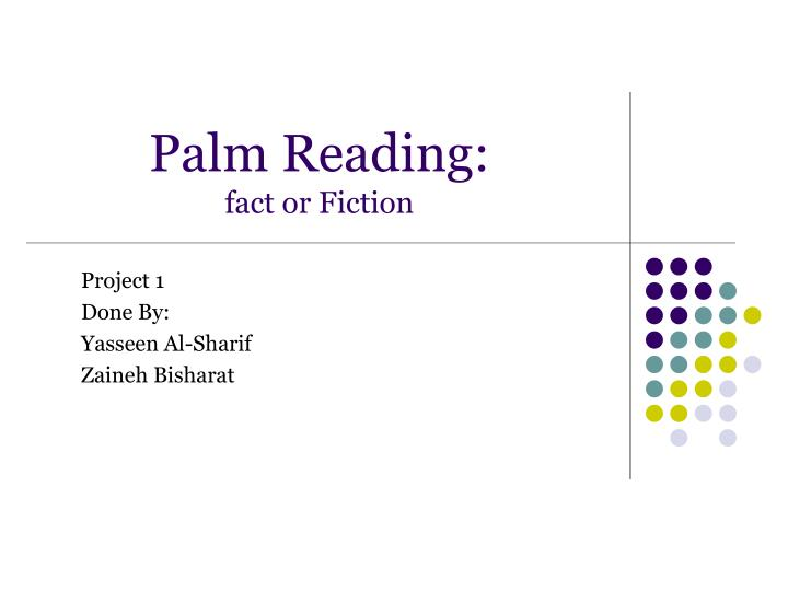 palm reading fact or fiction n.