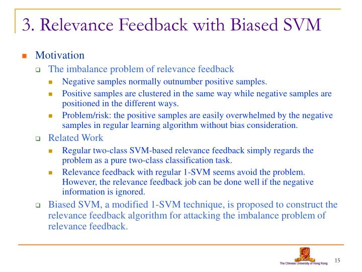 3. Relevance Feedback with Biased SVM