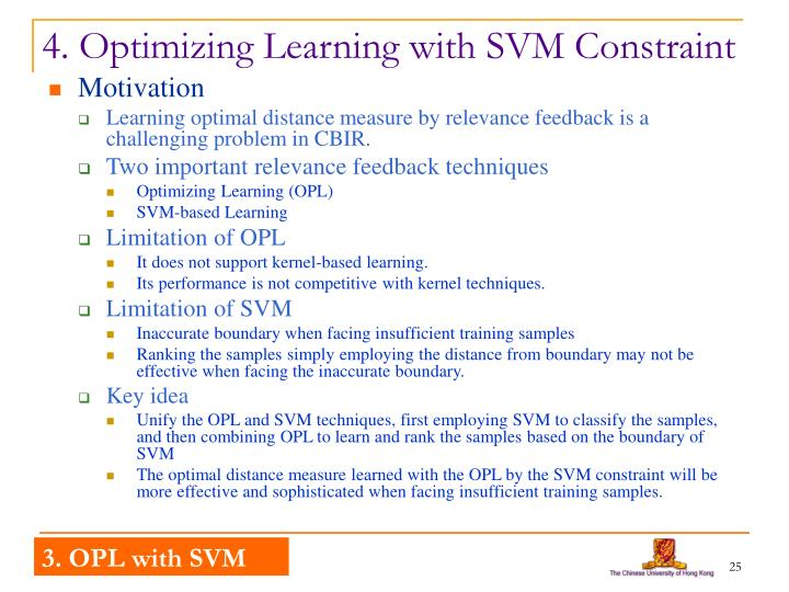 4. Optimizing Learning with SVM Constraint