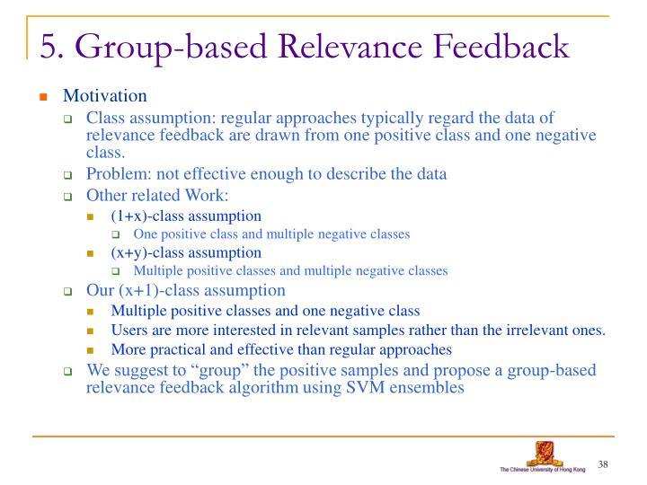 5. Group-based Relevance Feedback