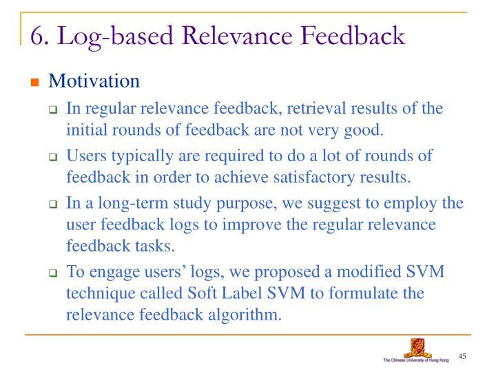 6. Log-based Relevance Feedback