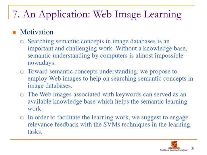 7. An Application: Web Image Learning
