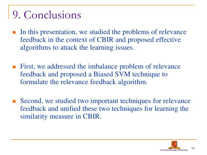 9. Conclusions