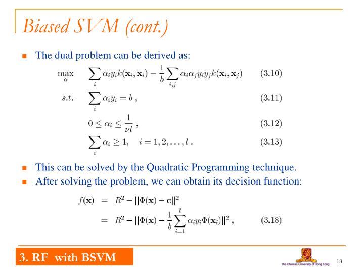 Biased SVM (cont.)