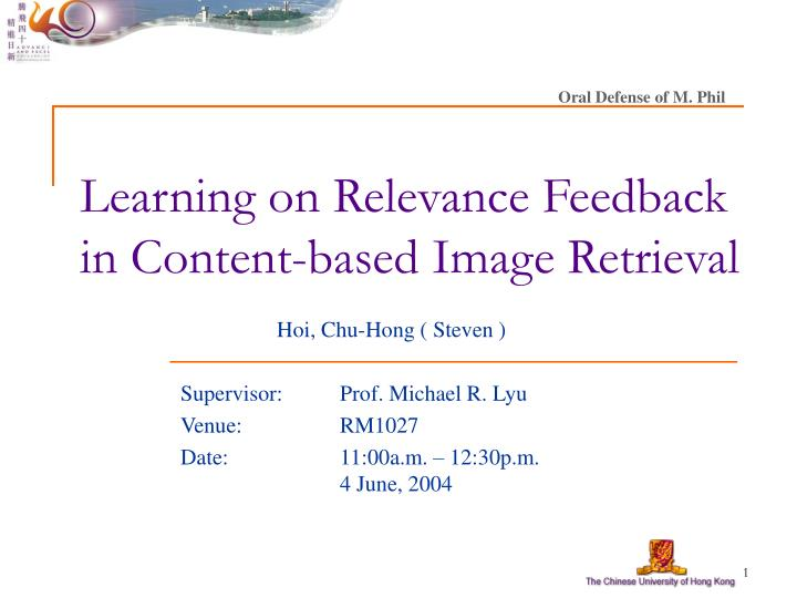 learning on relevance feedback in content based image retrieval n.