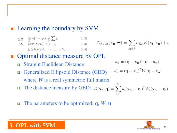 Learning the boundary by SVM