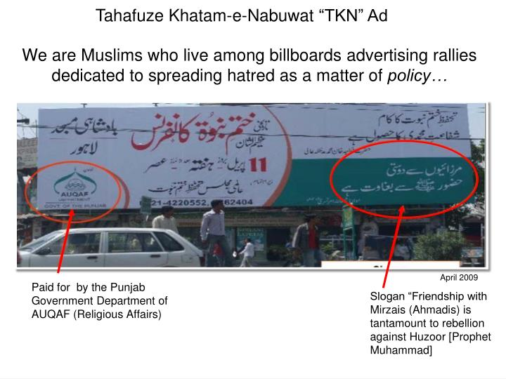 We are Muslims who live among billboards advertising rallies dedicated to spreading hatred as a matter of