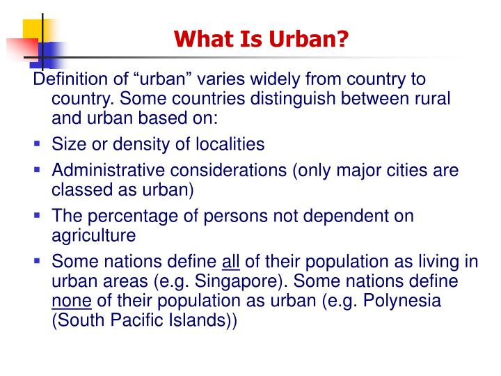 country classifications and urbanization processes essay Does the simultaneous occurrence of population growth and environmental decline over the past century indicate that more people translate.