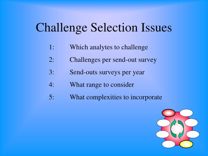 Challenge Selection Issues