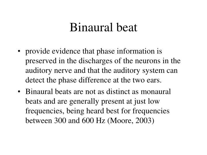 Binaural beat