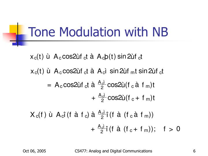 Tone Modulation with NB
