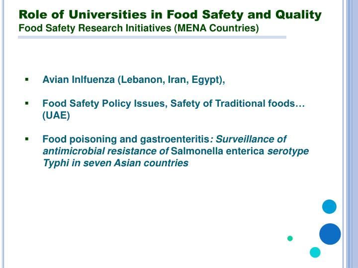Role of Universities in Food Safety and Quality