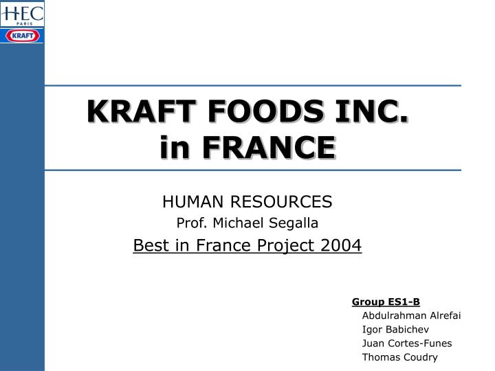 kraft foods inc in france n.