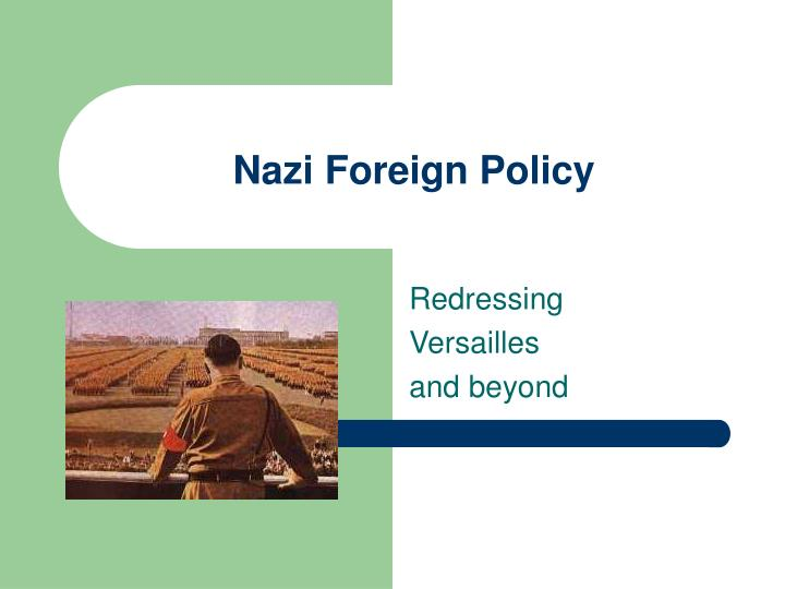 nazi foreign policy n.