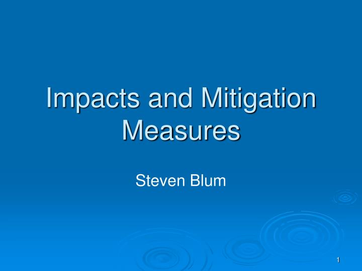 impacts and mitigation measures n.