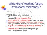 what kind of teaching fosters international mindedness3