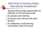what kind of teaching fosters international mindedness5