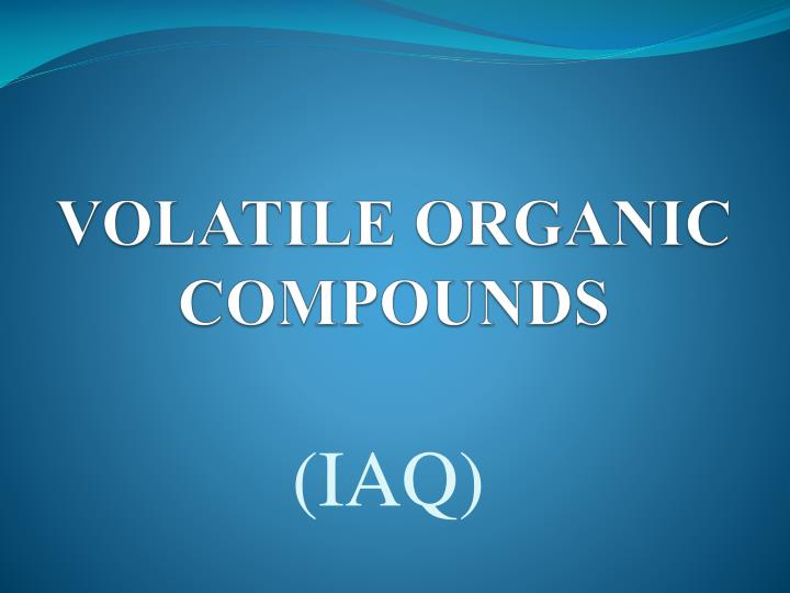 volatile organic compounds n.