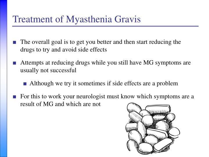description causes and treatment of myasthenia gravis