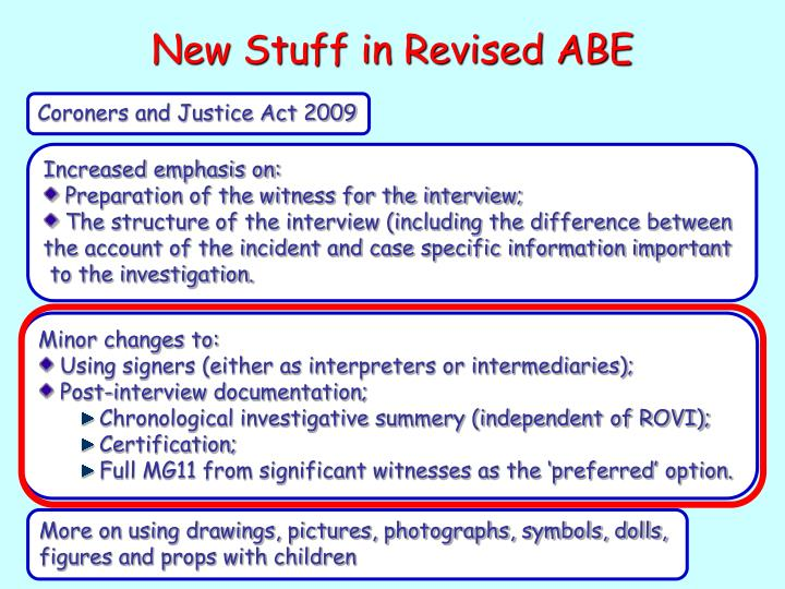 New Stuff in Revised ABE