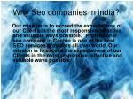 why seo companies in india