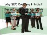 why seo company in india