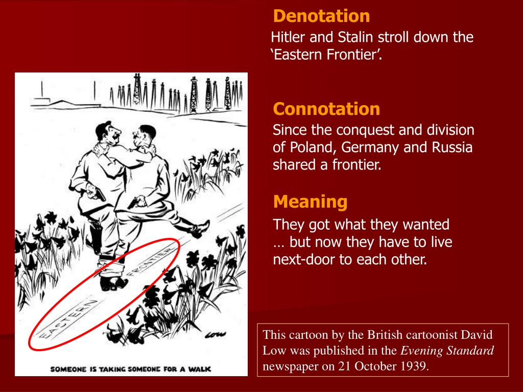PPT - This cartoon by the British cartoonist David Low was