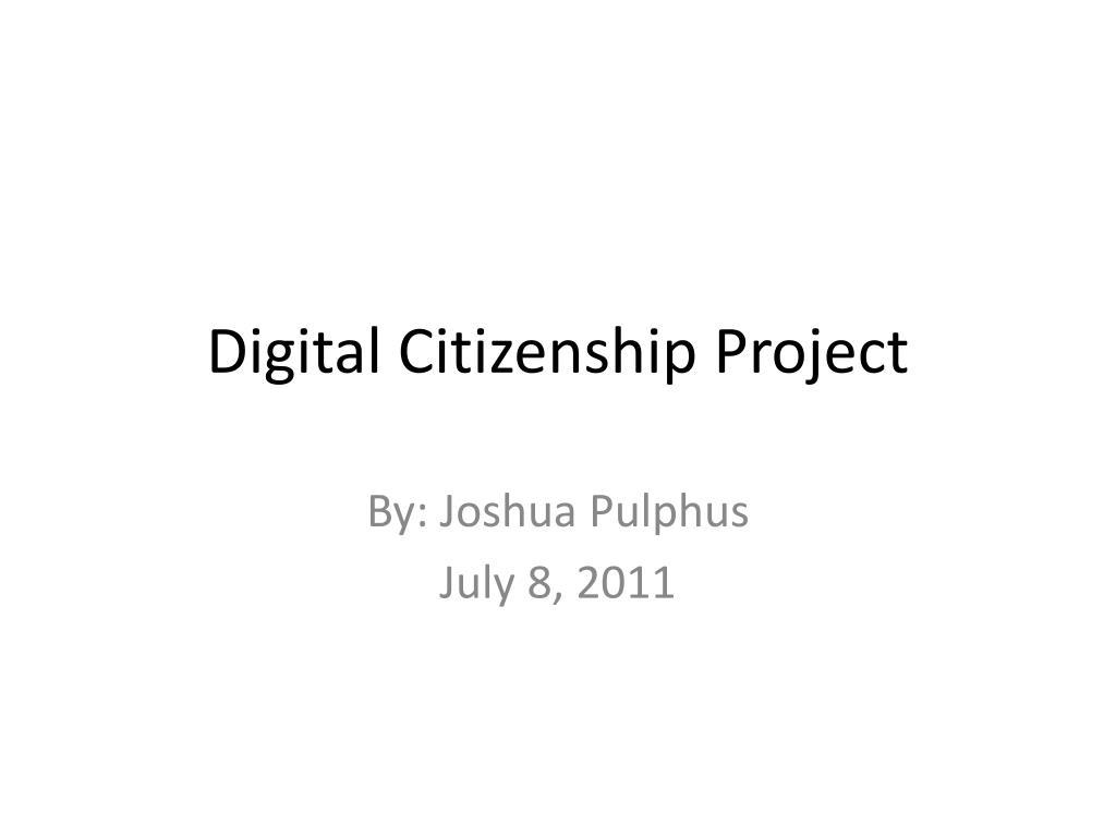 digital citizenship project l.