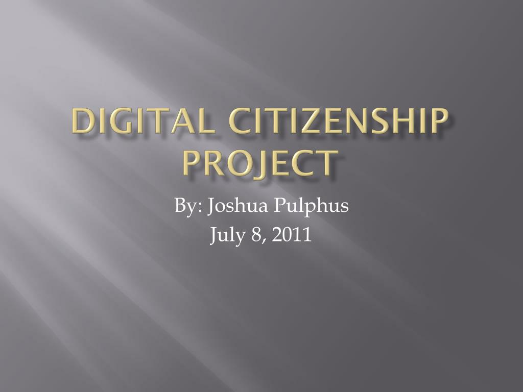 digital citizenship project l.