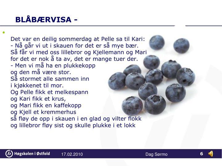 BLÅBÆRVISA -