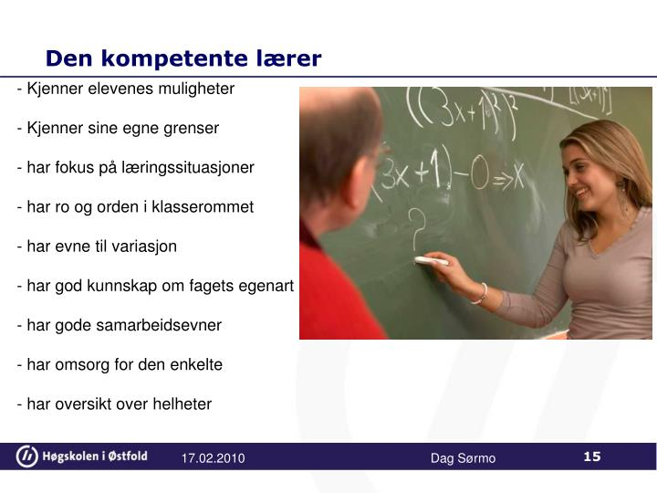 Den kompetente lærer