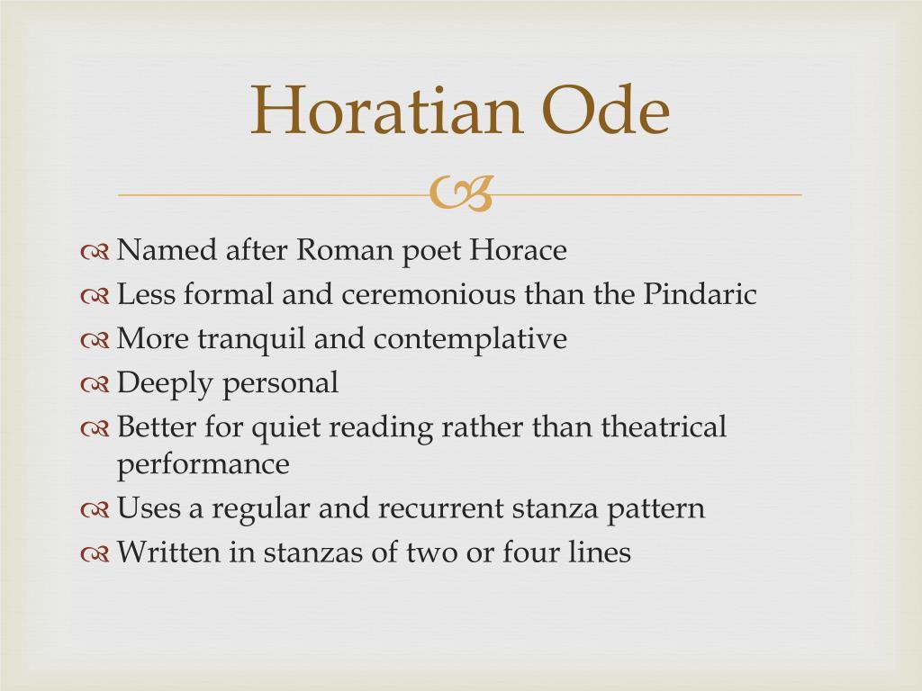 Horatian Ode