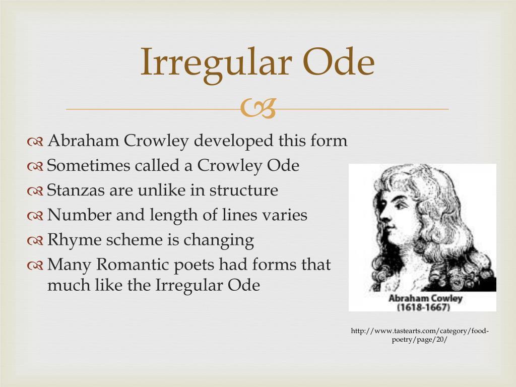 Irregular Ode