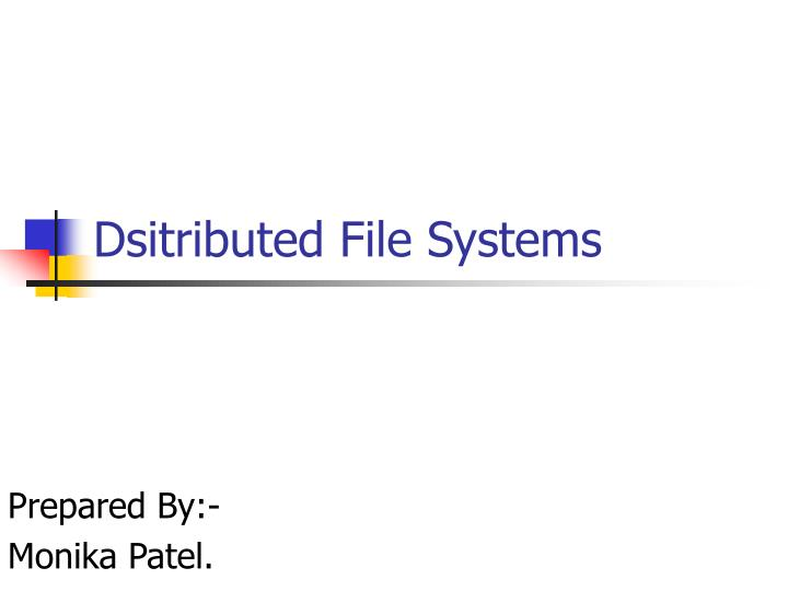 Dsitributed file systems