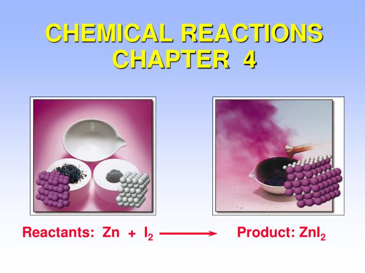 chemical reactions chapter 4 n.