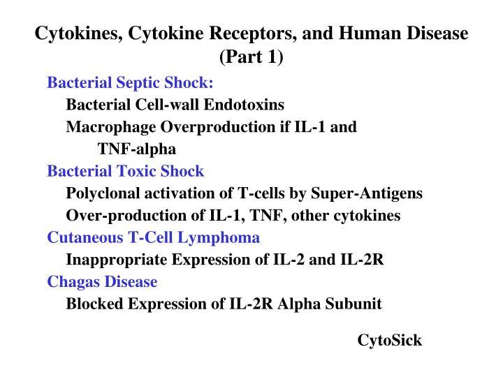 Cytokines, Cytokine Receptors, and Human Disease