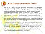gold potential of the indian terrain1