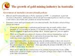 the growth of gold mining industry in australia2