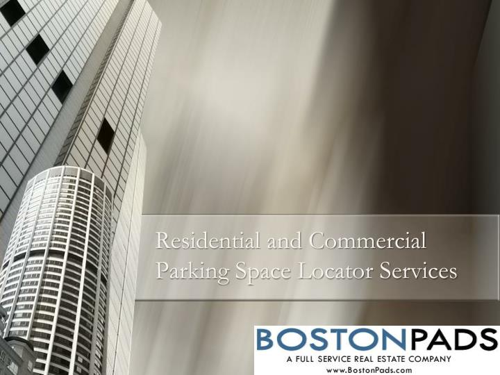 residential and commercial parking space locator services n.
