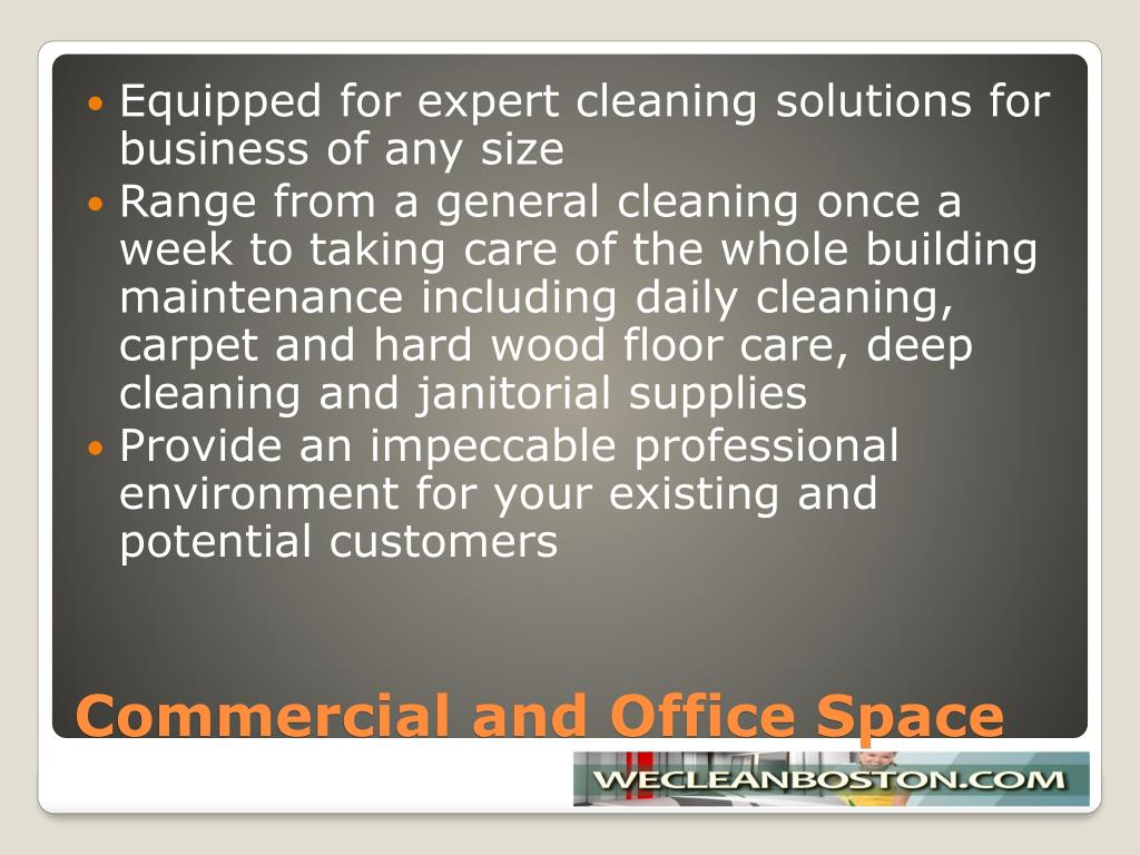 Equipped for expert cleaning solutions for business of any size