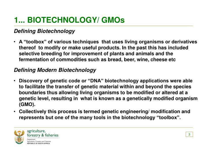 1 biotechnology gmos