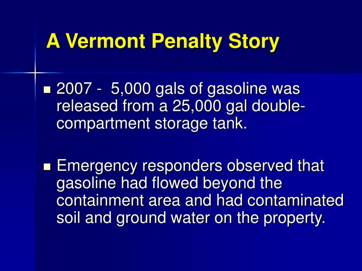 A Vermont Penalty Story