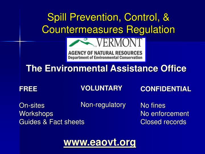 Spill Prevention, Control, & Countermeasures Regulation