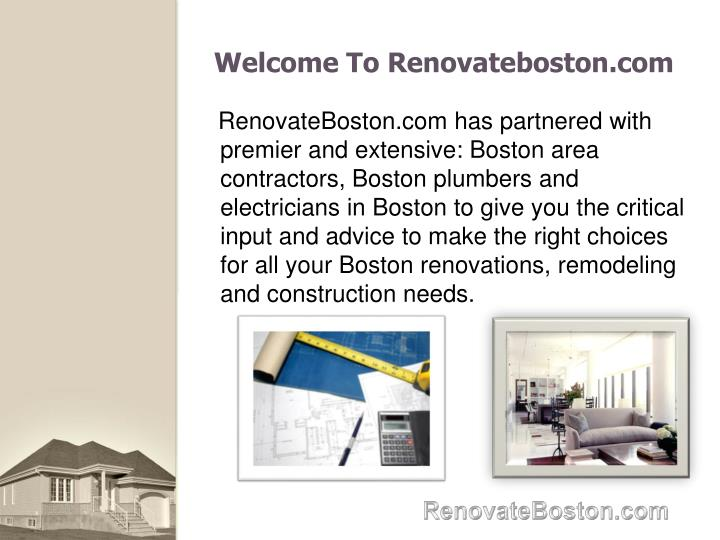 Welcome To Renovateboston.com