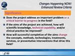 changes happening now enhanced review criteria2