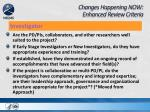 changes happening now enhanced review criteria3
