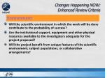 changes happening now enhanced review criteria6