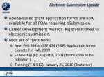 electronic submission update