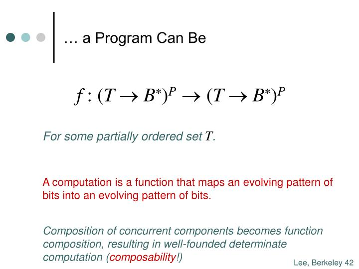 … a Program Can Be